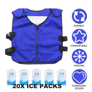 Summer Body Cooling Vest Ice Bag Air Conditioning Cooling Vest Outdoor Fishing