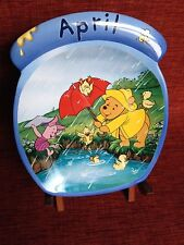 Winnie the Pooh April Calendar Plate Whole Year Through Bradford birthday