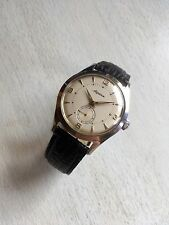 Vintage Alpina 1950s Mens Dress Watch All Steel 34mm Cal. 586 Sub Dial
