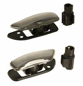Front L+R Fender Turn Signal Side Marker Lights Pair for Volvo S60 S80 V70 XC90
