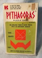 1972 Kohner Bros. Pythagoras Puzzle Game  Complete W/ Instructions Used