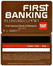Vintage First Banking Credit Card Issued By 1st National Bank, Memphis, Tn: 1977