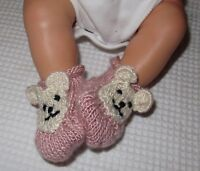 PRINTED  INSTRUCTIONS - BABY BEAR BOOTS ANIMAL BOOTEES BOOTIES KNITTING PATTERN