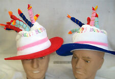 2 x HAT BIRTHDAY CAKE ,WITH CANDLE, HAPPY BIRTHDAY COSTUME HAT