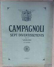 album partition CAMPAGNOLI sept divertissements op. 18 violon