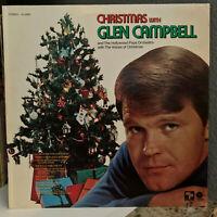 "GLEN CAMPBELL - Christmas With Glen Campbell - 12"" Vinyl Record LP - VG+"