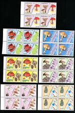 Guinea-Bissau Stamps # 765-71 XF Mushroom block 4s OG NH Scott Value $102.40