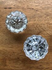 2 Antique Door Knobs Glass Only 1 As Is