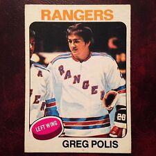 1975-76 O-Pee-Chee OPC Set GREG POLIS #201 NEW YORK RANGERS - EX-MINT