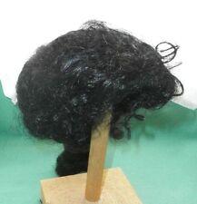 """doll wig black 12"""" to 12.5"""" negroid, one braid/Kunsthaarper. schwarz negr.,Zopf"""