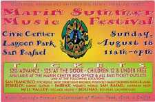 MARIN SUMMER MUSIC FESTIVAL Family Dog flyer Ben Harper Merl Saunders Wavy Gravy