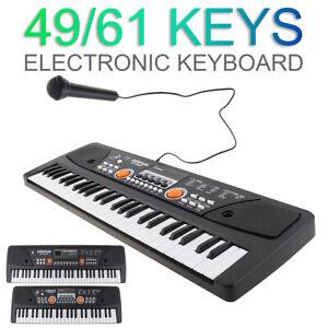 61 Keys Digital Piano Keyboard Electronic Electric Keyboards with Microphone