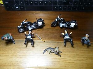 LOT OF SS MOTORCYCLES, German soliders, Dog