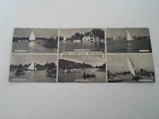 THE NORFOLK BROADS Multiview Vintage Photostyle Postcard §B282
