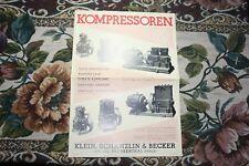 1920 - 1925 4 Reklame Werbung / Kompressoren Schanzlin Frankenthal Pfalz