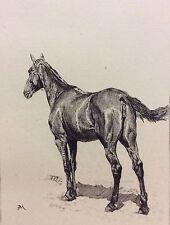 Ernest Meissonier Jument Désespérée gravée Charles Louis KRATKÉ (1848-1921)1893