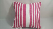 Ashland Spring/Summer Decorative Pink and Creme Striped Pillow