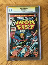 Marvel Premiere #15 Signed by Roy Thomas 1st Appearance Iron Fist 8.5 VF+ CGC