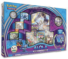 Lunala GX Alola Sun Moon Pokemon Card Box   5 Boosters Holo Promo Figure +more