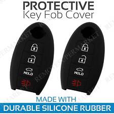 2 Key Fob Cover for 2009-2018 Nissan Murano Remote Case Rubber Skin Jacket