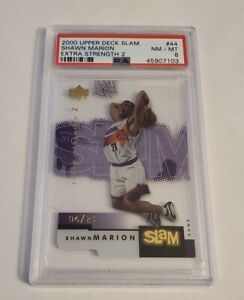 SHAWN MARION - 2000 UD SLAM - #44 - EXTRA STRENGTH - #6/25 - PSA 8 NM-MT -
