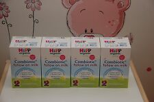 4 Boxes HiPp Organic Combiotic Follow On Milk - Stage 2 - Uk Version 800g 11/18