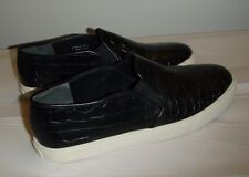 COLE HAAN 7B slip on croc loafer pre-owned black white rubber sole