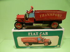 TIN PLATE TOYS BLECH FIAT CAR TRANSPORT TRUCK - RED - NEAR MINT IN BOX