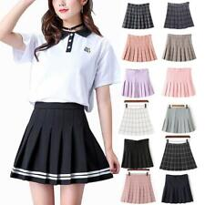 Women's High Waist Casual Pleated Tennis Style Mini Skater Skirt