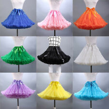 UK Women Tutu Skirt Adult Fluffy Pettiskirt Petticoat Princess Ballet Party Danc