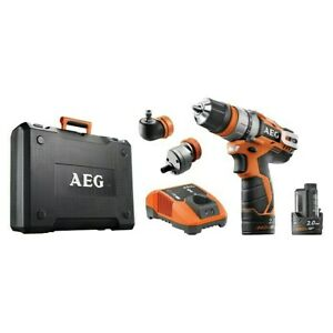 AEG Powertools Akku-Bohrschrauber-Set BBS 12C2 Li-202C KIT 1 Koffer + Zubehör