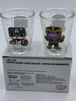 Funko Marvel Collector Corps Thanos Captain America Toothpick Holders Shot Glass