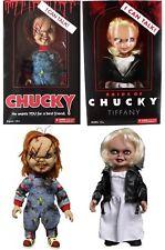 "Child's Play Chucky & Tiffany Talking Mega Scale Doll with Sound 15"" Mezco Set"
