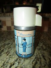 VINTAGE RARE 1950's THE STEWARDESS VINYL LUNCHBOX THERMOS COMPLETE VERY NICE!