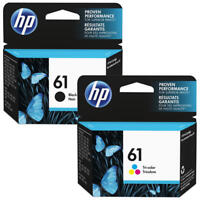2x Genuine HP61 Ink Cartridges Black+Colour For HP 2510 2050 1050 1010 Envy 4504