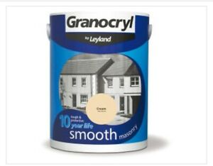 Granocryl Smooth Masonry Cream  5L Exterior. High Quality. Free P&P