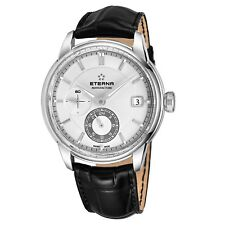 Eterna Men's Adventic Silver Dial Black Leather Automatic Watch 7661.41.66.1324