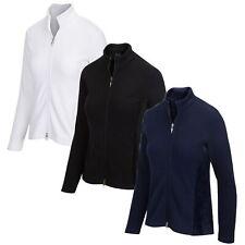 Greg Norman Womens Full Zip Fleece Velour Jacket - New 2020
