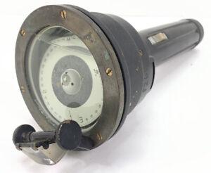 WWII Era Maritime Prism Compass Flashlight Navigation Sea Air Memorabilia Rare