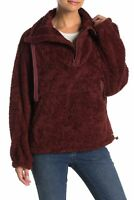 NWT Free People Big Sky Plush High Neck Half Zip Pullover Fuzzy Jacket Size XS