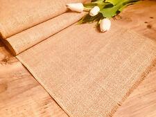 NATURAL Rustic Burlap Jute Runners Wedding Hessian Table Cloth Runner 30cm wide