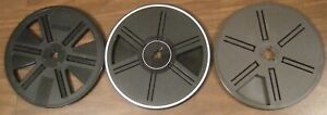 Lot of 3 plastic super 8 movie auto load take-up reels 7 inch 400' Bell & Howell