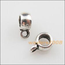 40 New Tibetan Silver Tone Tiny Charms European Bail Beads Fit Bracelet 6x8.5mm