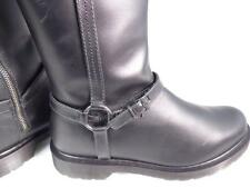 "DR MARTENS ""PHILIPPA"" ROSA SMOOTH BLACK LEATHER HIGH HARNESS RIDING BOOTS UK 7"