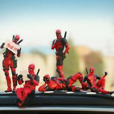 X-Men Deadpool Car Ornament Interior Dashboard Toy Anime Decoration Mini Figures
