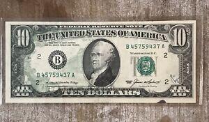 1985 $10 Overprint Error - Very Rare 1/2 Obverse Overprint Error