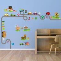 Cartoon Auto Track Kinder Schlafzimmer Wand Aufkleber Zimmer R3U7 Aufkleber P3B8