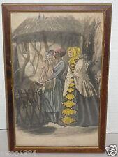 "Framed Original ""Oh Deari Oh Deari"" Engraved by I.I. Pease Expressly for Godey"