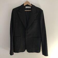 GOLDEN GOOSE DELUXE BRAND Blazer Jacket Size Large Grey Herringbone Wool