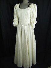 7e7996d89 LAURA ASHLEY Vtg 80s Cream Cotton Lace Renaissance Wedding Dress-Bust 34/XS